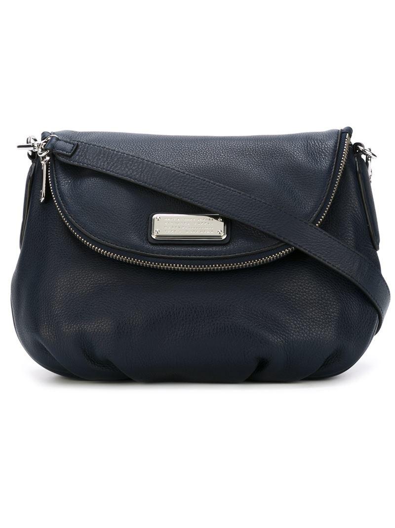 marc by marc jacobs zip flap crossbody bag in black lyst. Black Bedroom Furniture Sets. Home Design Ideas