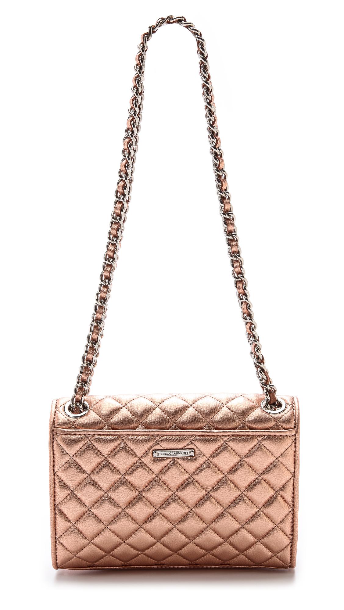 67f9bec17c81 Lyst - Rebecca Minkoff Quilted Mini Affair Bag Rose Gold in Pink