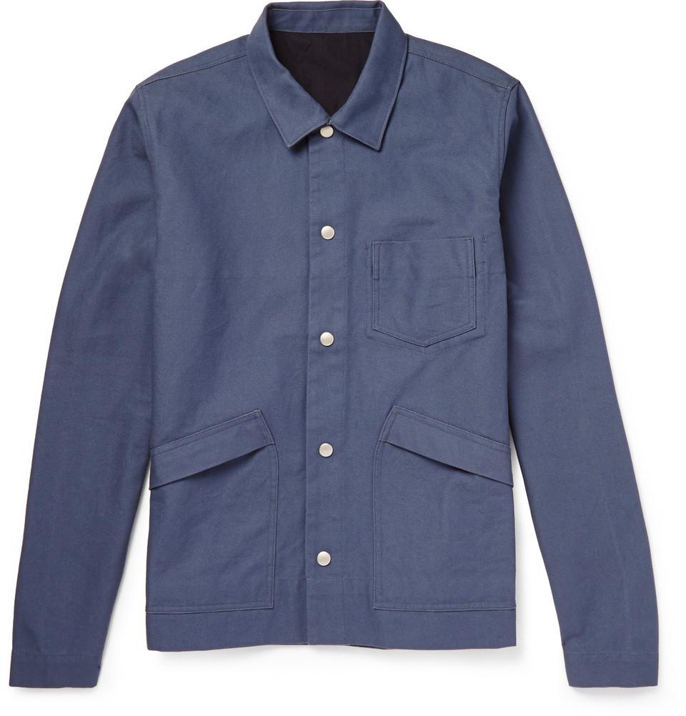 Lyst Folk Lightweight Cotton Canvas Jacket In Blue For Men