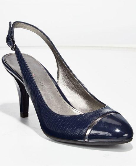 Navy Blue Slingback Dress Shoes