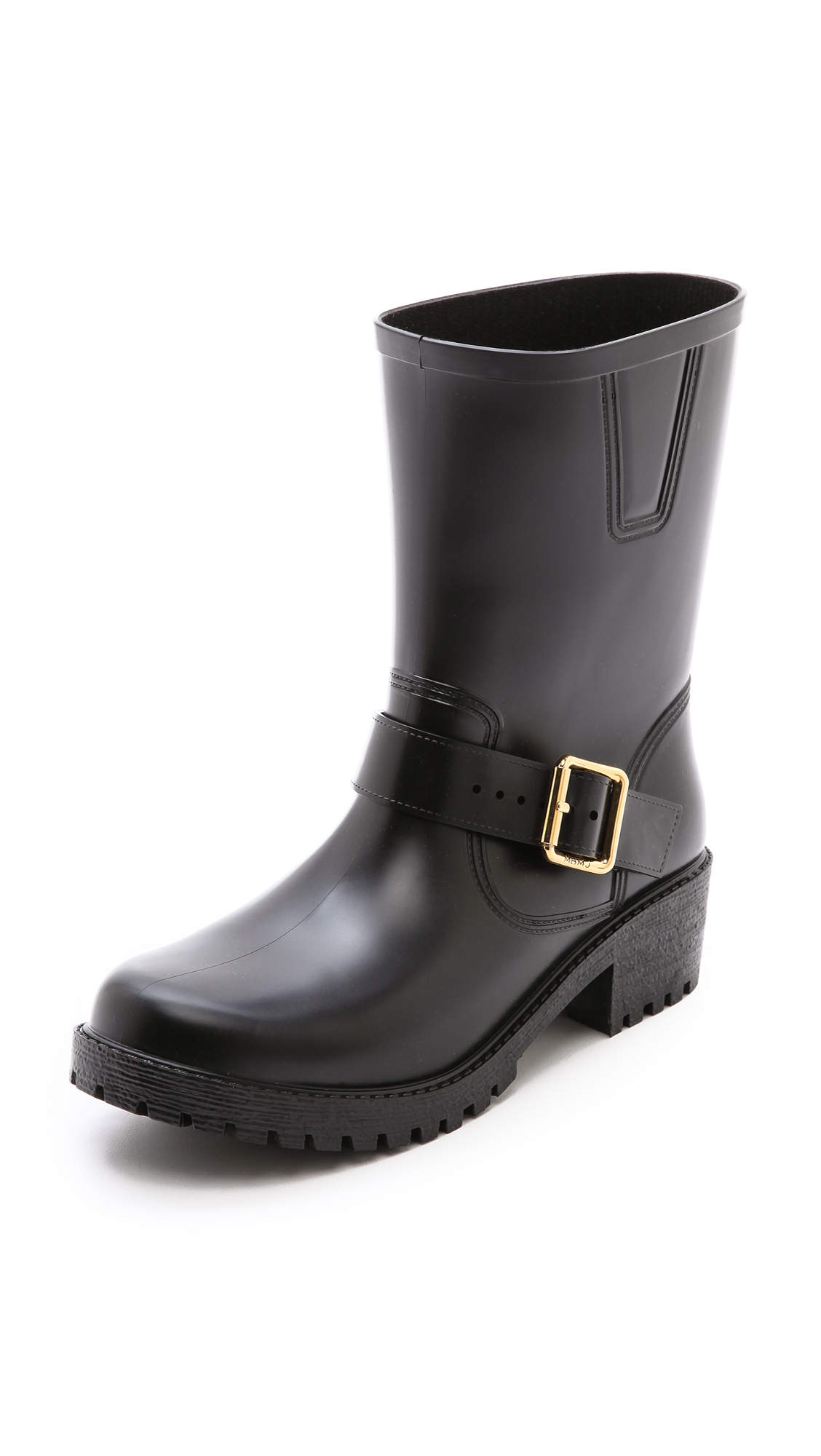 marc by marc jacobs short rain boots in black lyst. Black Bedroom Furniture Sets. Home Design Ideas