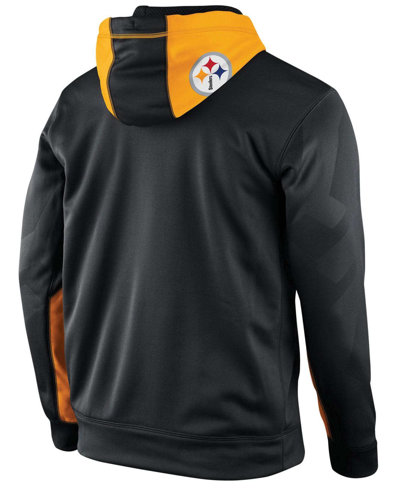 69e120168 Lyst - Nike Men S Pittsburgh Steelers Football Ko Full-Zip Therma ...