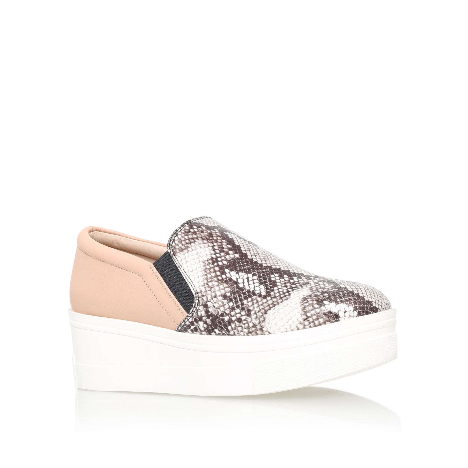 kg by kurt geiger lizard flat platform slip on shoes in