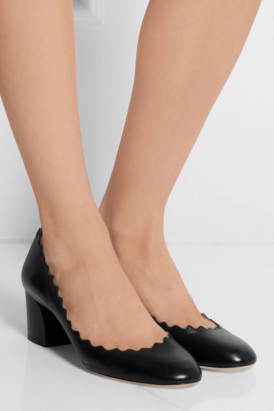 0d60ba558765 Lyst - Chloé Laura Scallop Pumps in Black