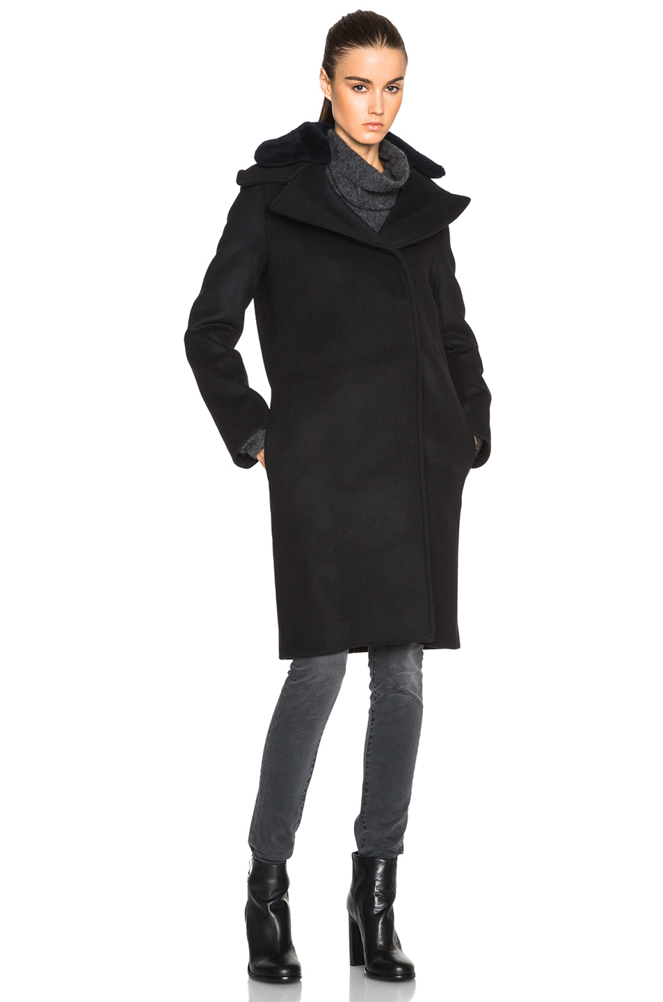 Lyst Acne Studios Era Coat In Black