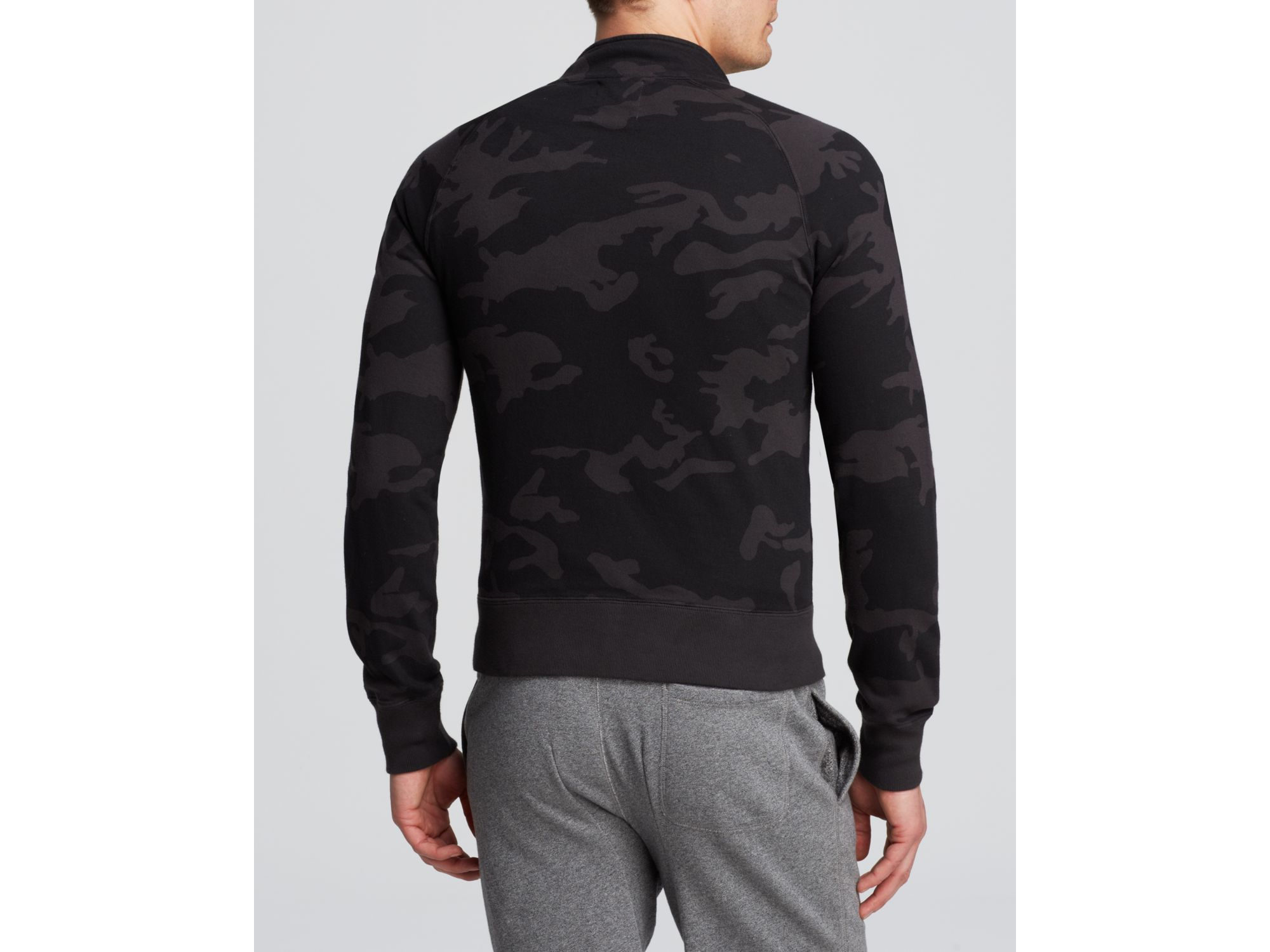Todd Synder X Champion Cotton Todd Snyder + Champion Camo Zip Sweatshirt - Bloomingdale's Exclusive in Black Camo (Black) for Men