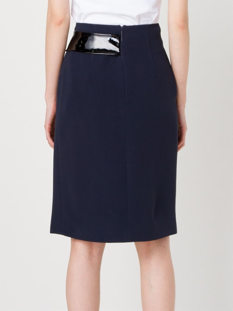 christopher layered banded skirt in blue lyst