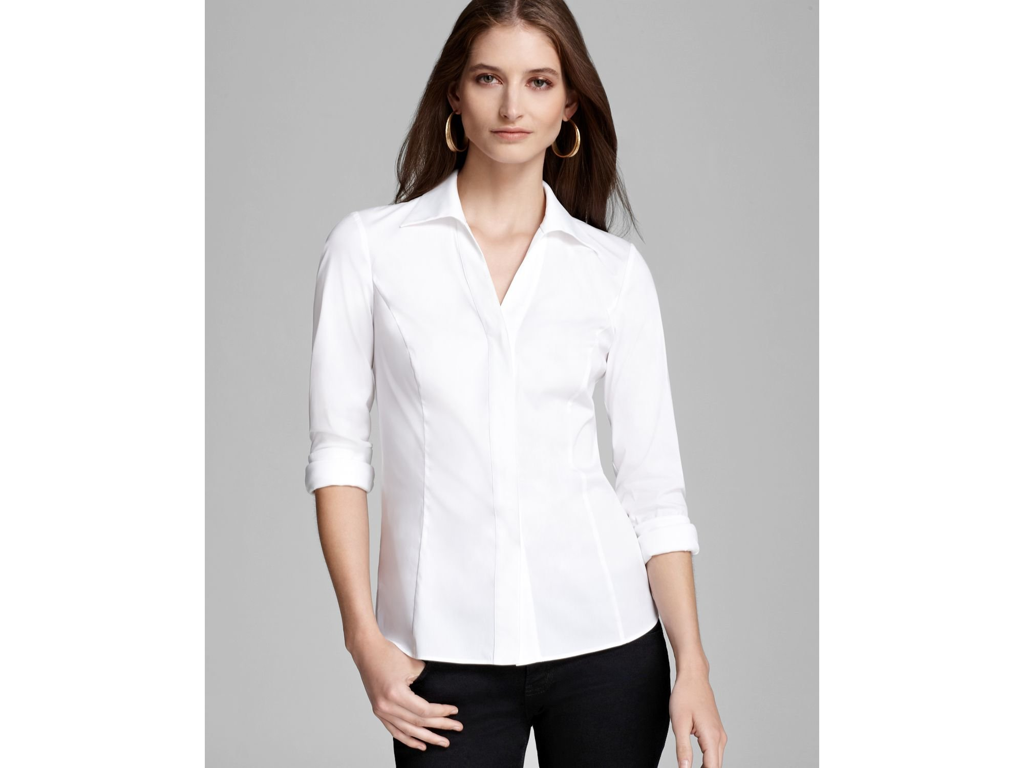 French Cuff Blouses For Women