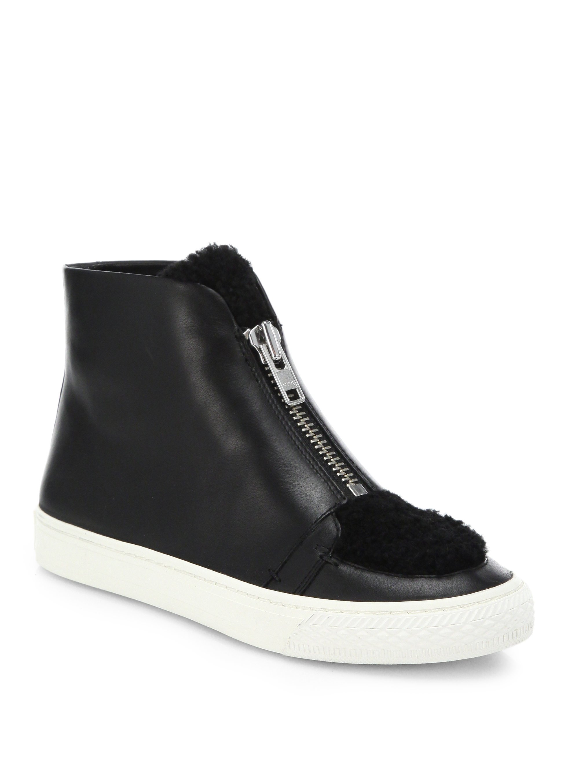 Loeffler Randall Leather High-Top Sneakers buy cheap outlet store prices cheap online OdqiYZx