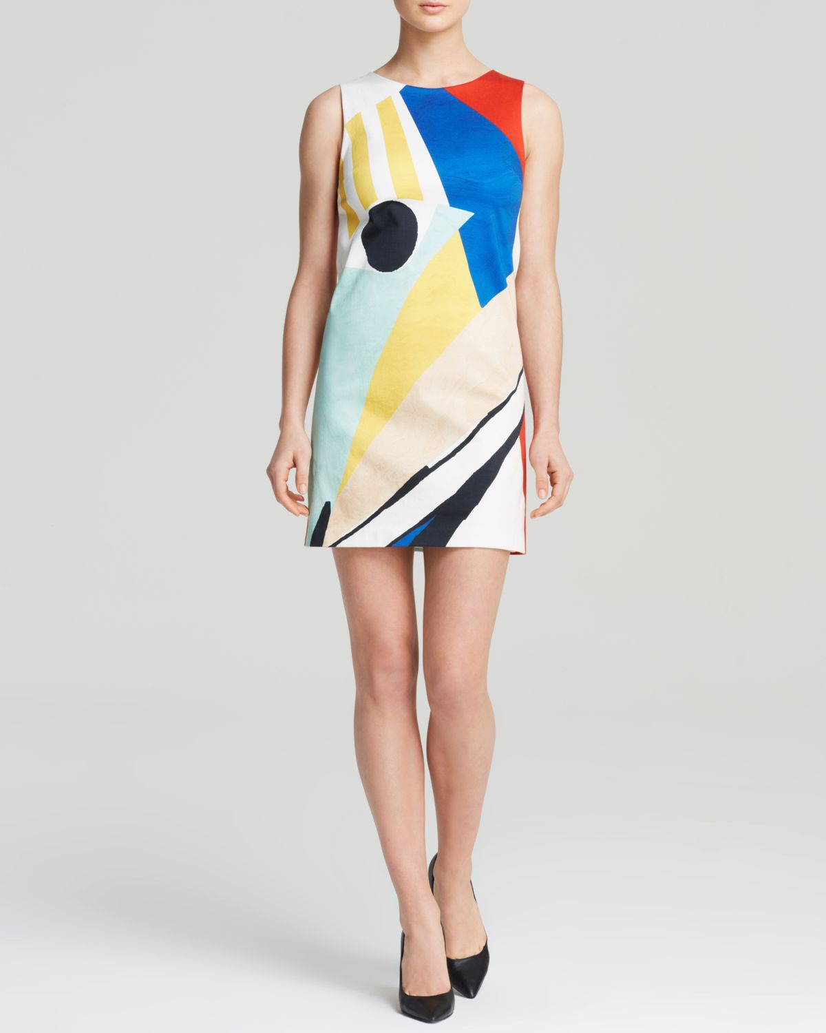 056e7b1a928 Alice + Olivia Dress - Clyde Color Block Shift - Lyst