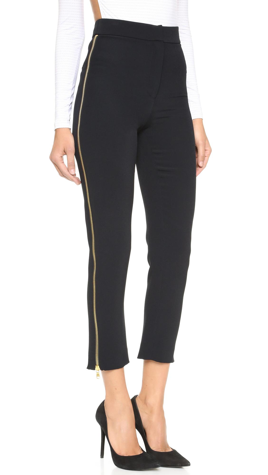 Cushnie Et Ochs Side Zipper Pants In Black Lyst