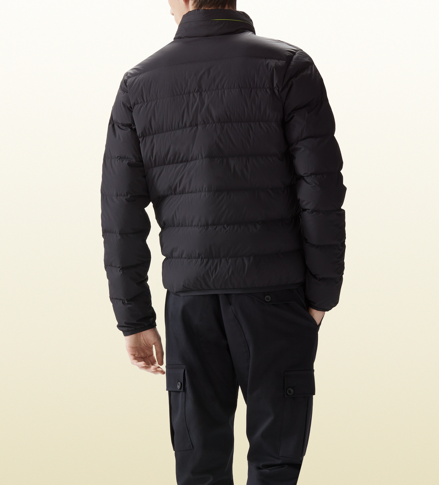 bdb4f1320 Gucci Men's Down Jacket From Viaggio Collection in Black for Men - Lyst