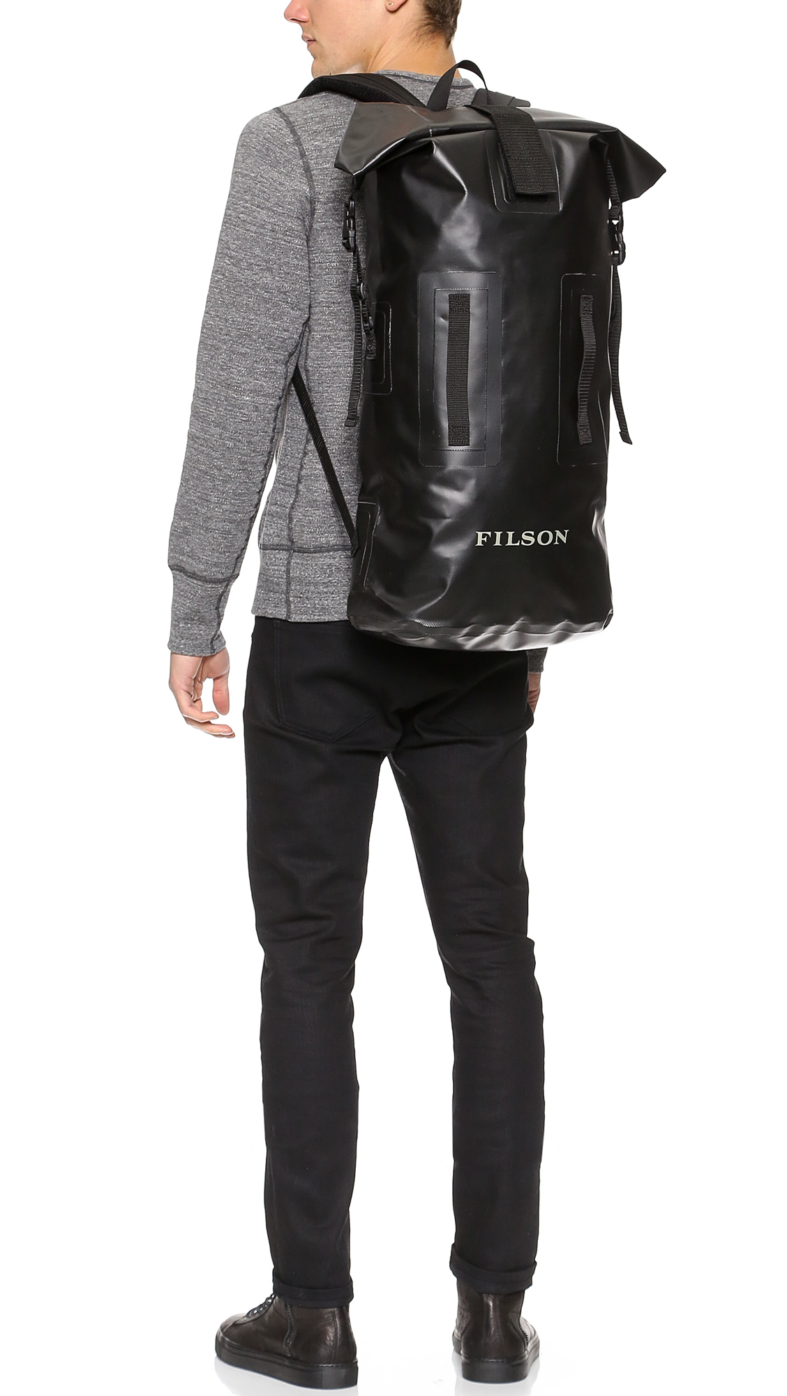 Lyst - Filson Dry Duffel Backpack in Black for Men e489e3346f563