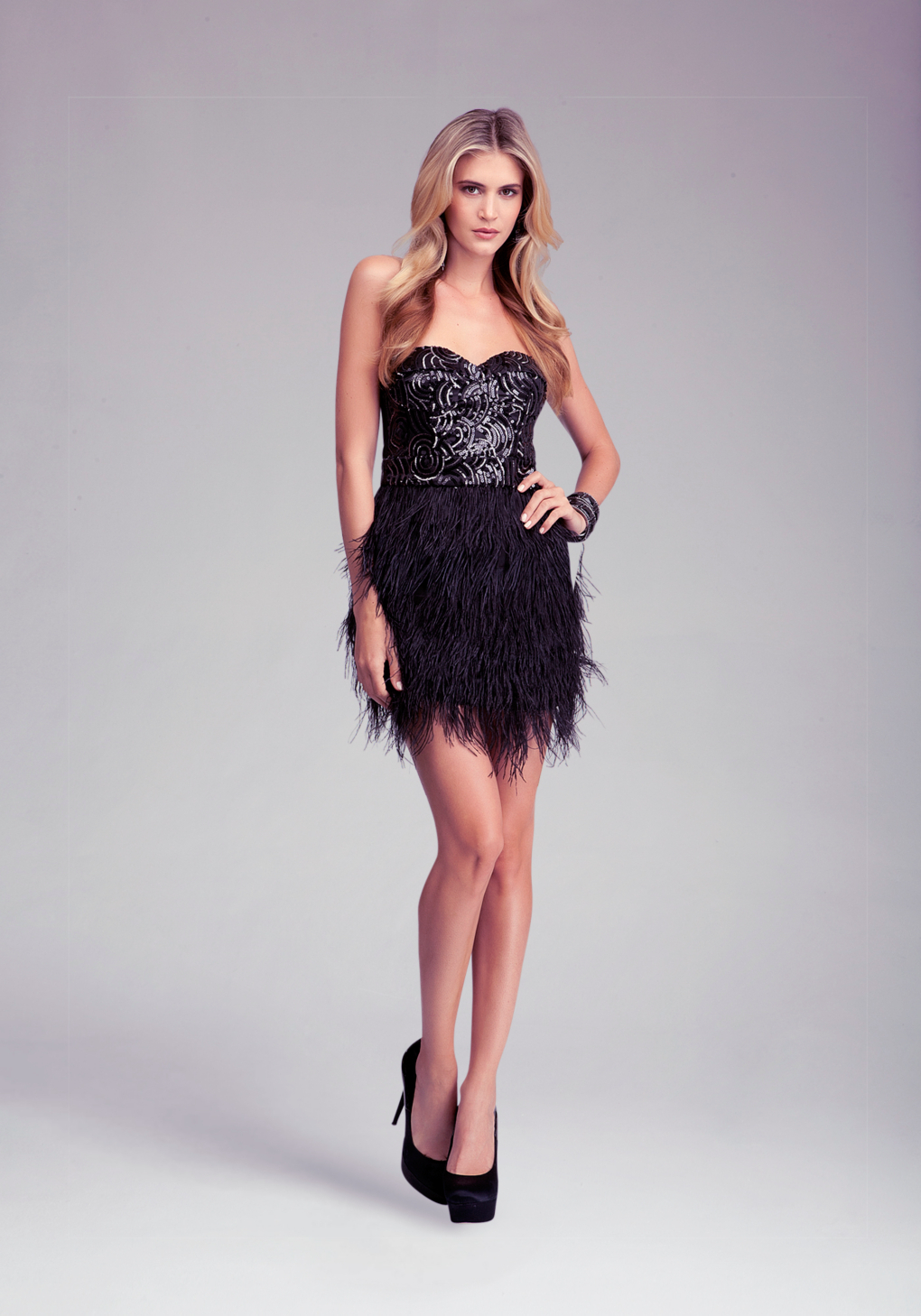 70f460b702 Bebe Isis Sequin Feather Dress Online Exclusive in Brown - Lyst