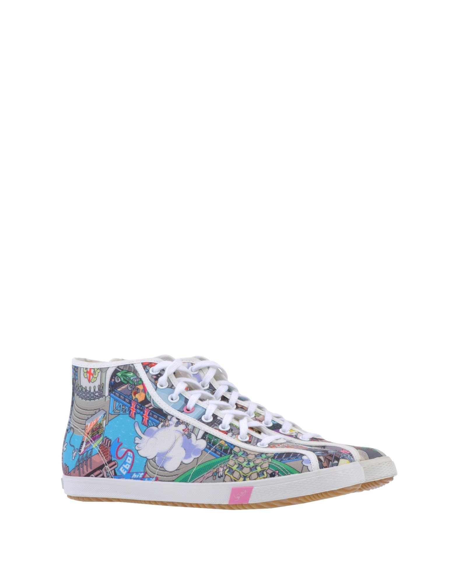 paul smith multicoloured high tops trainers in green light green. Black Bedroom Furniture Sets. Home Design Ideas