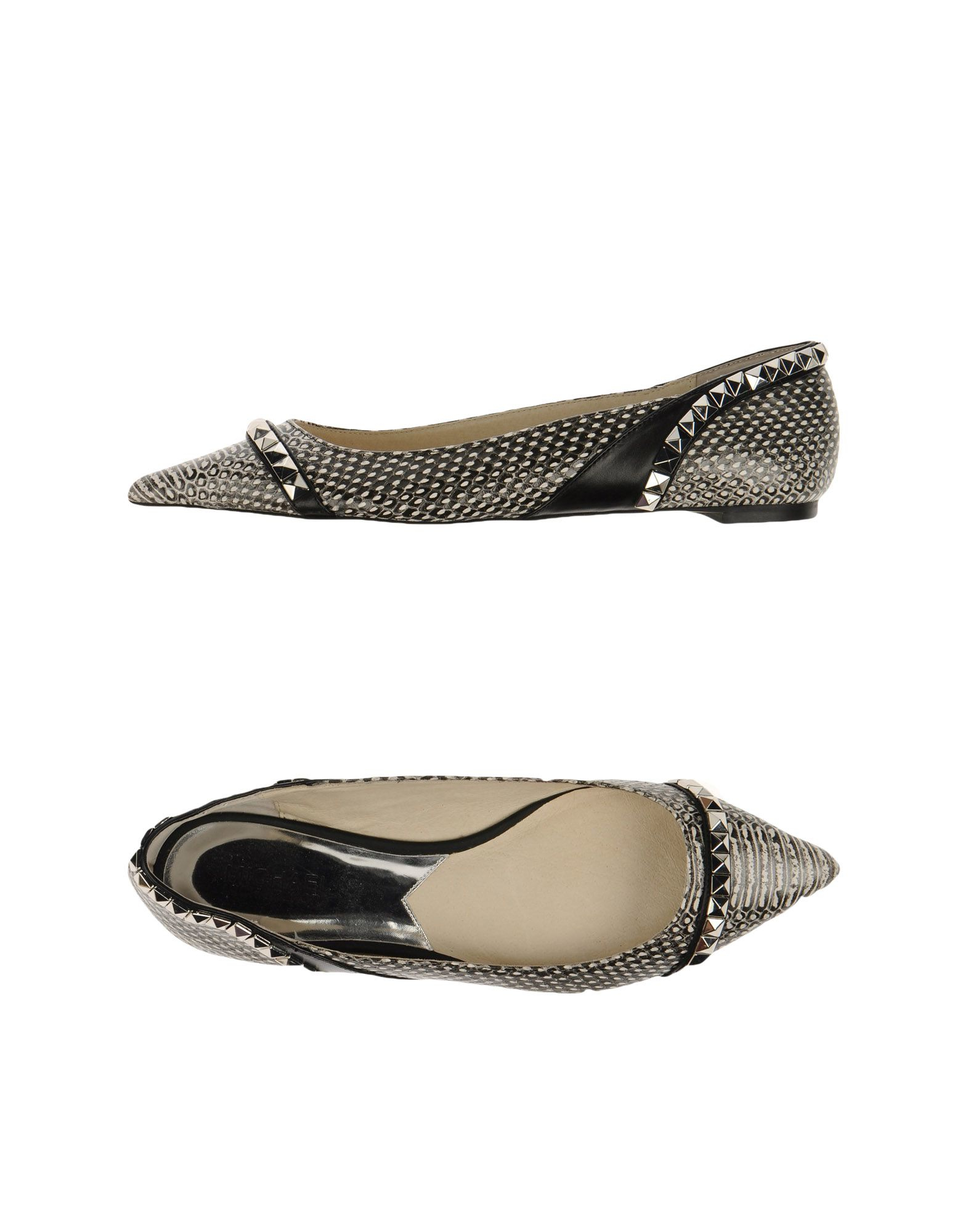 michael michael kors ballet flats in gray grey. Black Bedroom Furniture Sets. Home Design Ideas