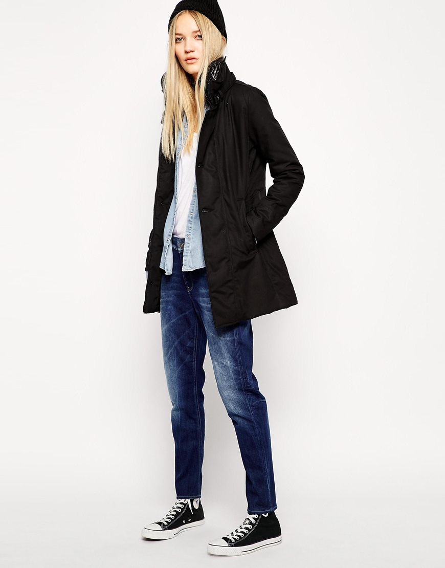 Lyst - G-Star Raw G Star Minor Trench Coat in Black 7a920e529a65