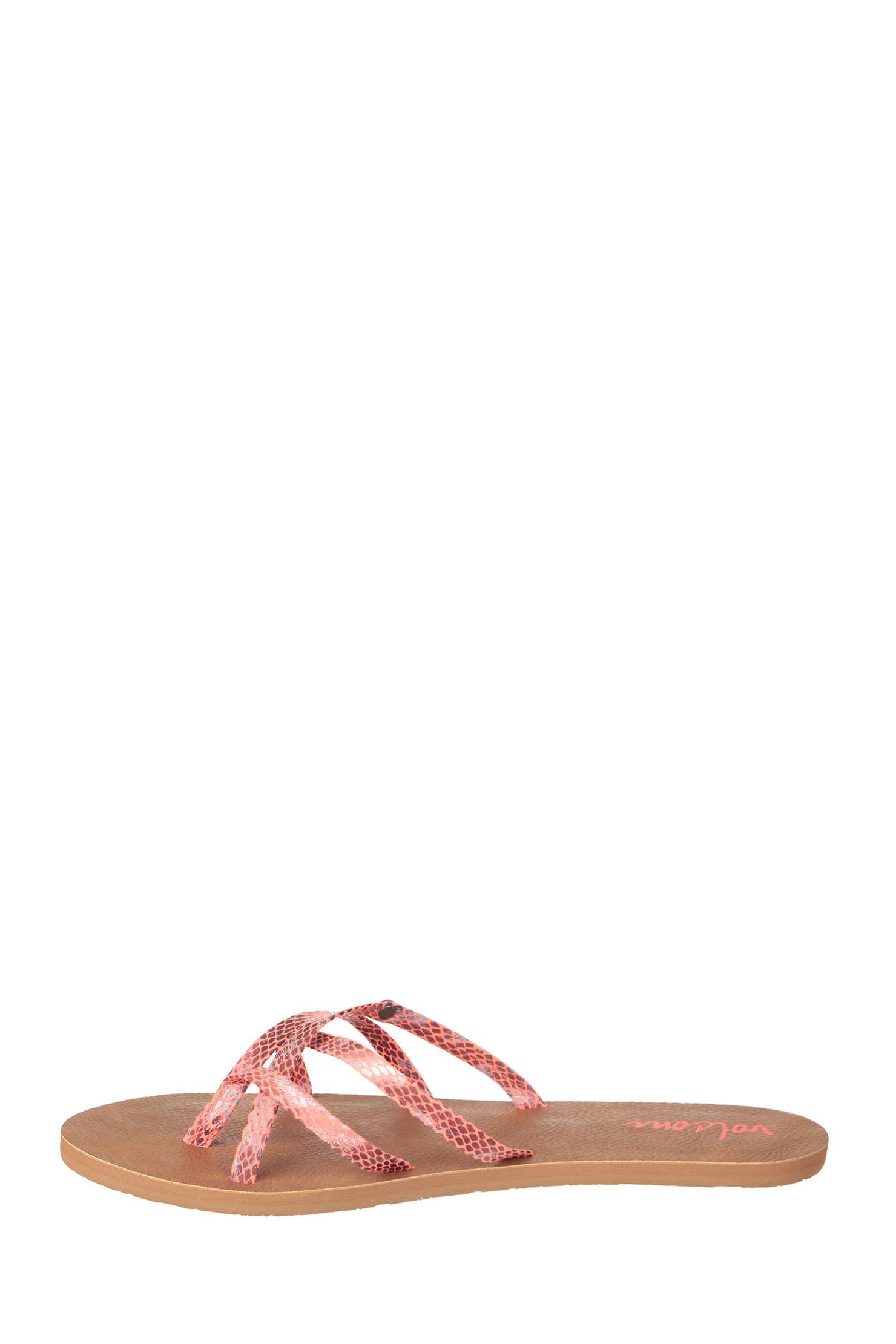 volcom sandals in pink lyst