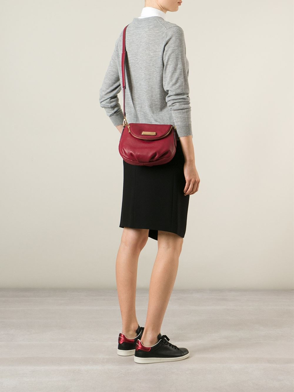 Marc By Marc Jacobs Classic Q Natasha Leather Bag In Red