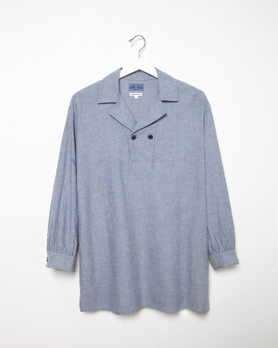 Lyst Blue Blue Japan Two Button Flannel Shirt In Blue