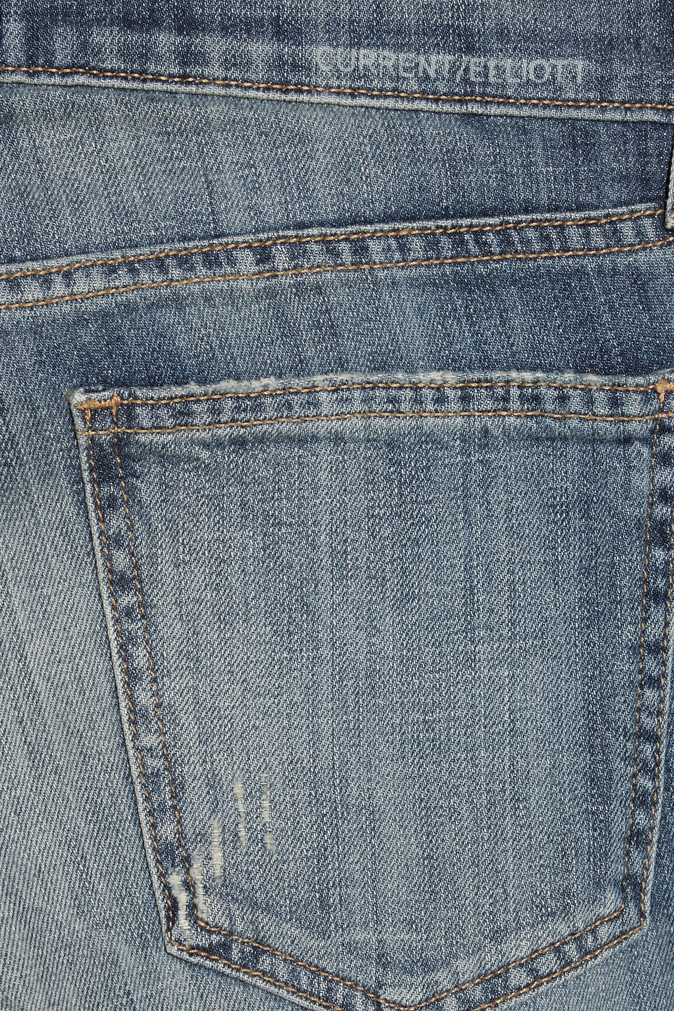 Current/Elliott The Skinny Mid-rise Jeans in Mid Denim (Blue)