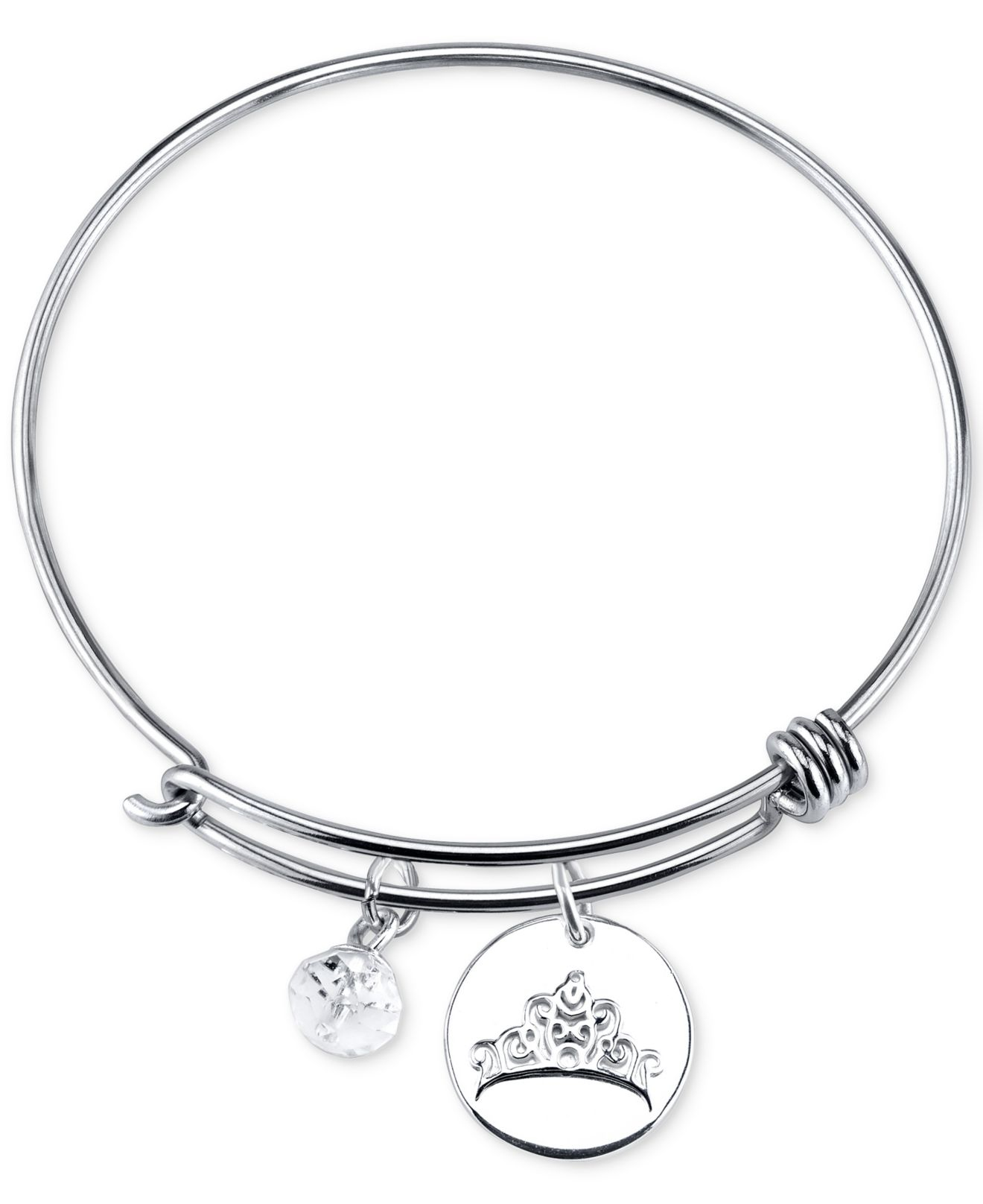 Sterling Silver Charms For Bracelets: Disney Dreams Charm Bangle Bracelet In Sterling Silver In