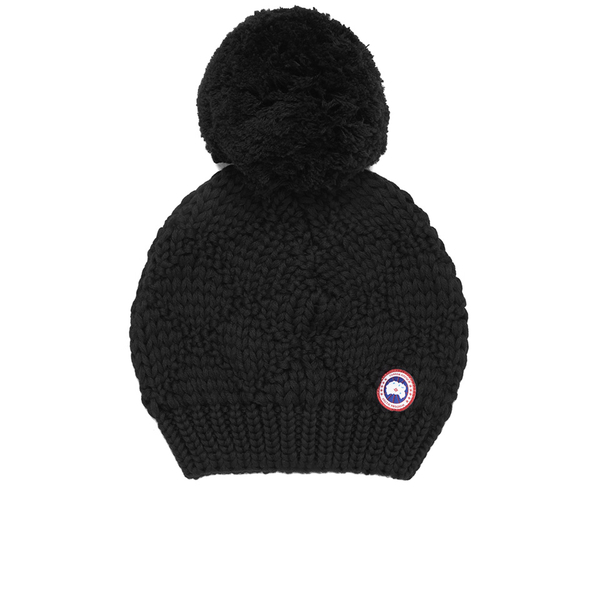 be89d8914 Canada Goose Oversized Wool Pompom Beanie Hat in Red - Lyst