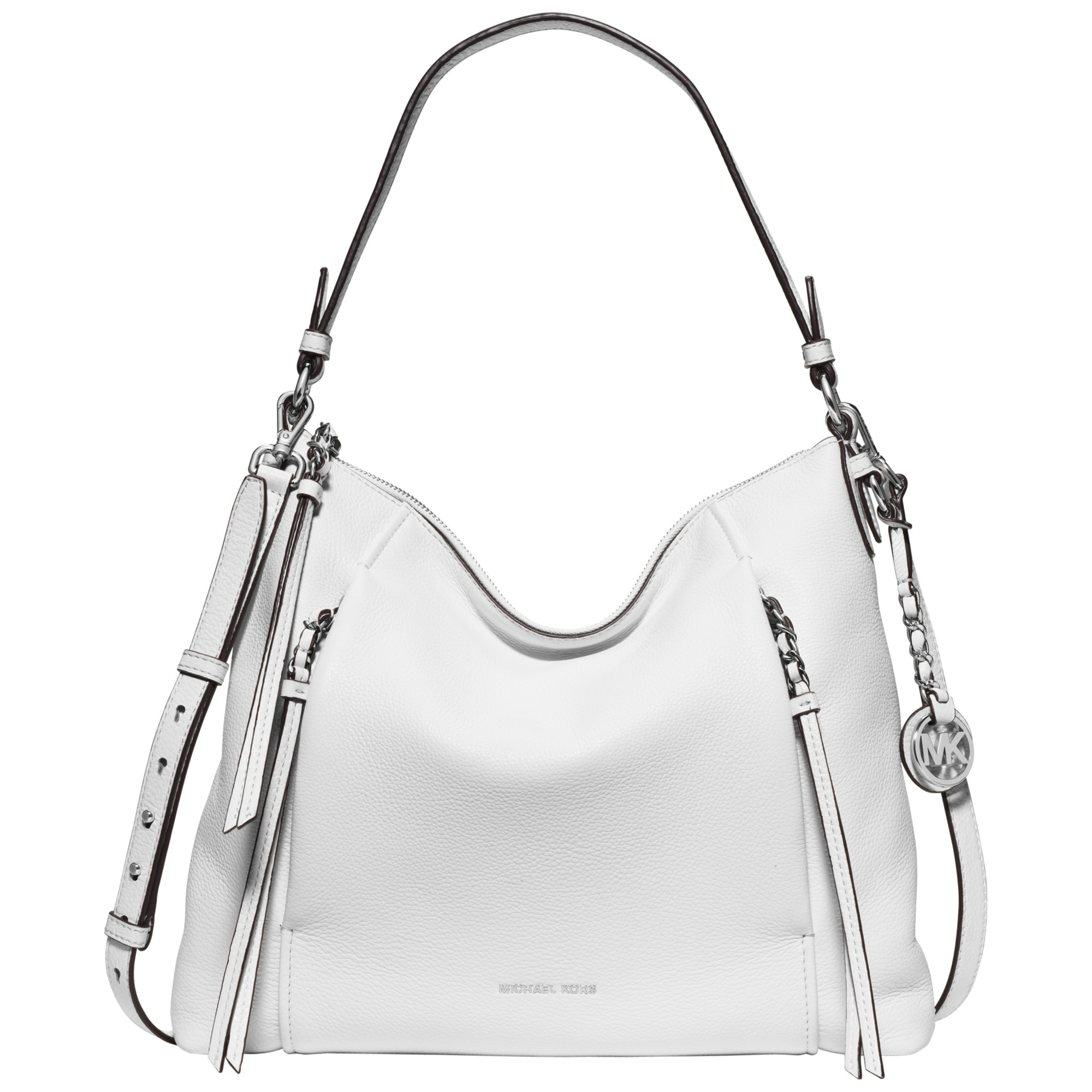 ef4f67258d7b MICHAEL Michael Kors Corinne Large Leather Shoulder Bag in White - Lyst