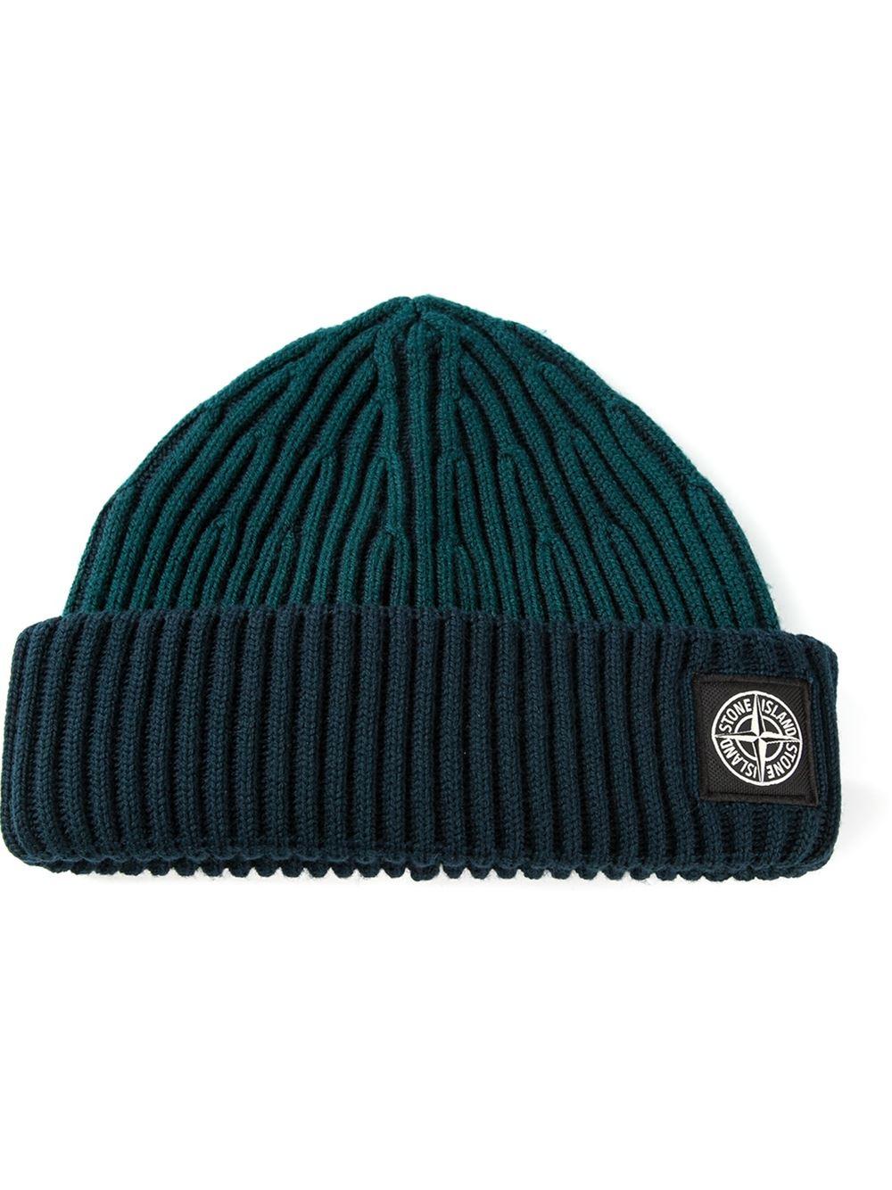 9fe3fb1a46f ... mens grey rib knit 5915N09C6 beanie hat SI3015  wide range 968f8 d54ef Stone  Island Grey Two Tone Beanie Hat ...