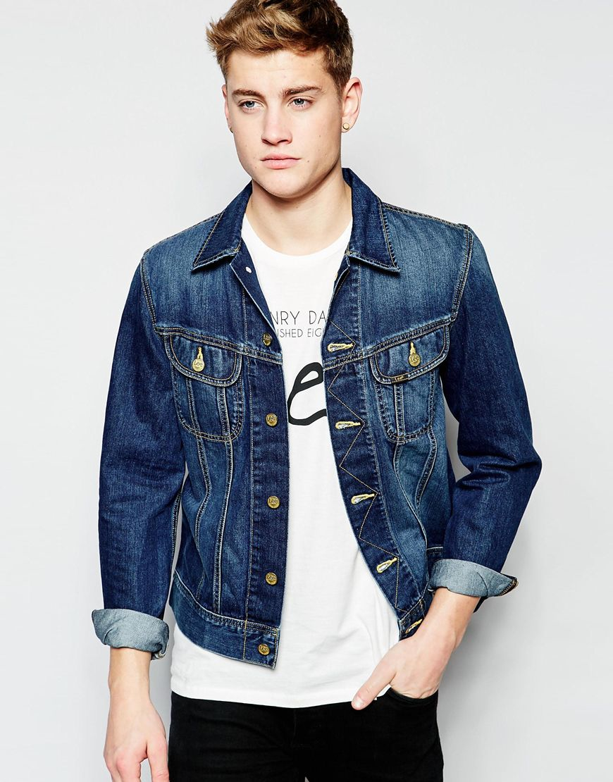 Lyst Lee Jeans Rider Jacket In Blue For Men