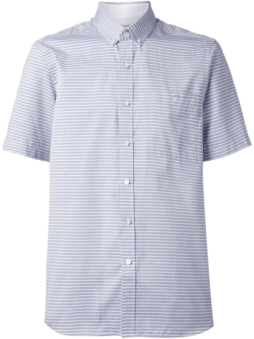Patrik Ervell Striped Button Down Shirt In Blue For Men Lyst