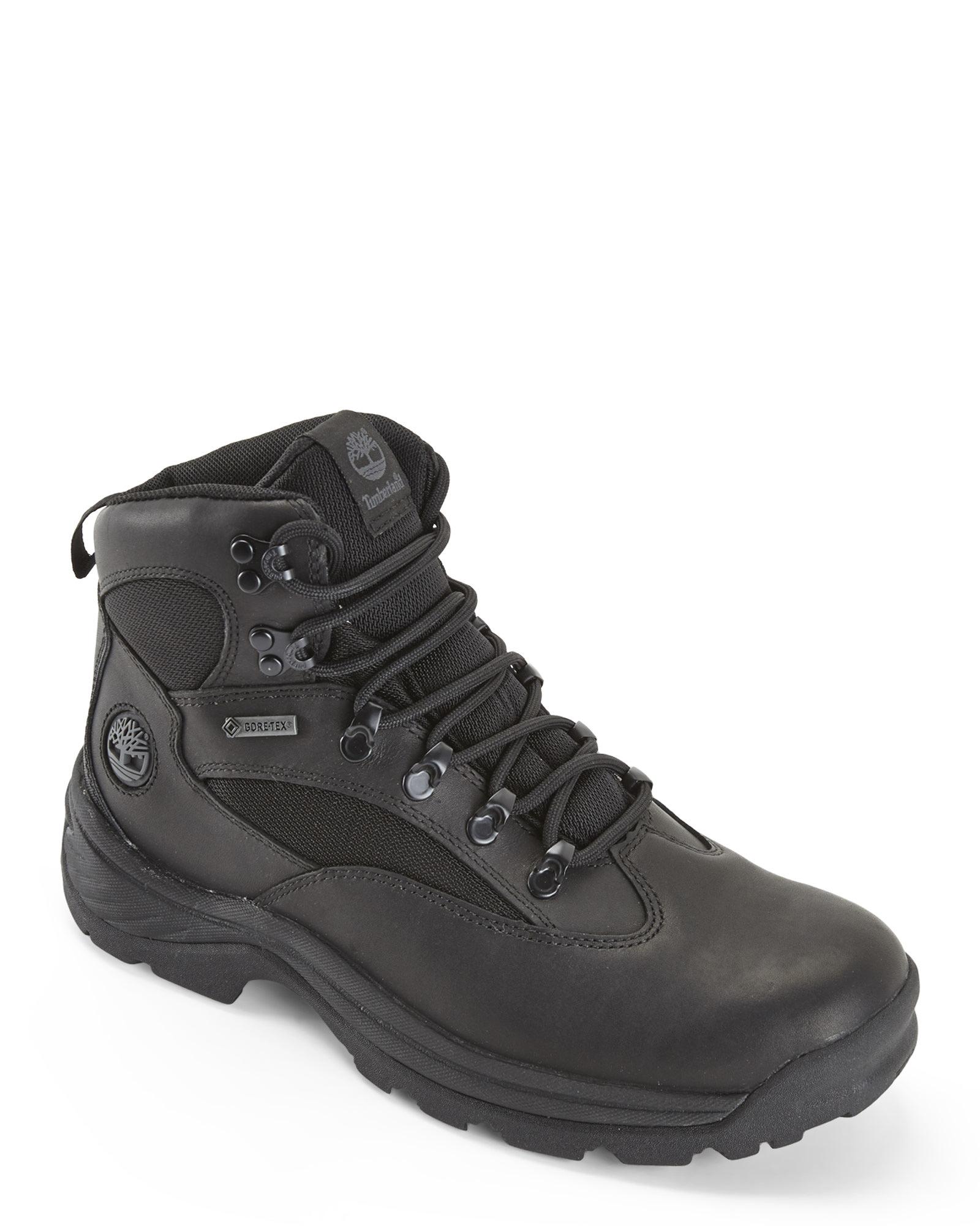 timberland waterproof chocorua trail gore-tex hiker boots black