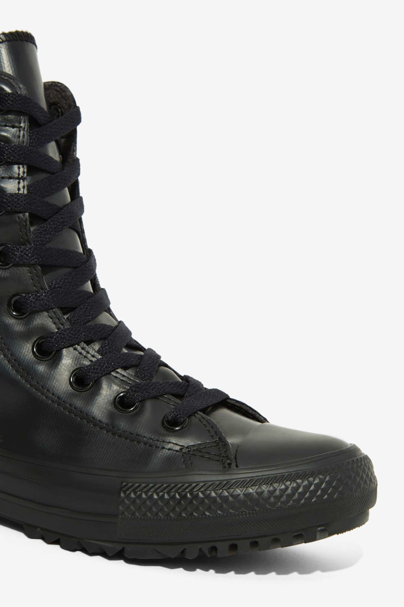 Converse Chuck Taylor Hi Rise Suede Boot in Black