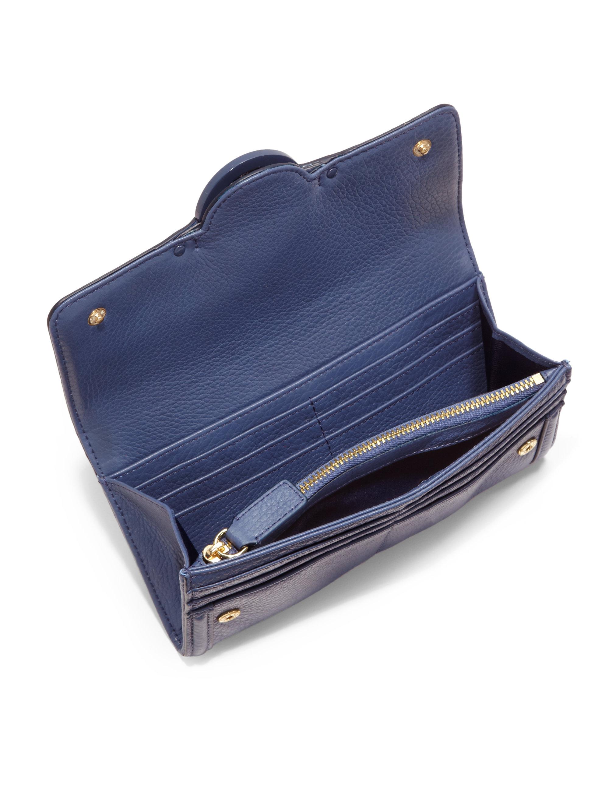Tory burch Amanda Envelope Continental Wallet in Blue | Lyst