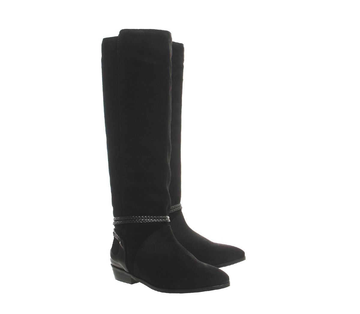 office black escape slouch knee boots lyst