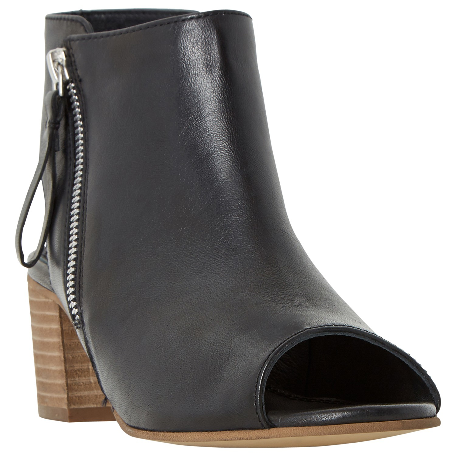 dune joselyn leather ankle boots in black lyst