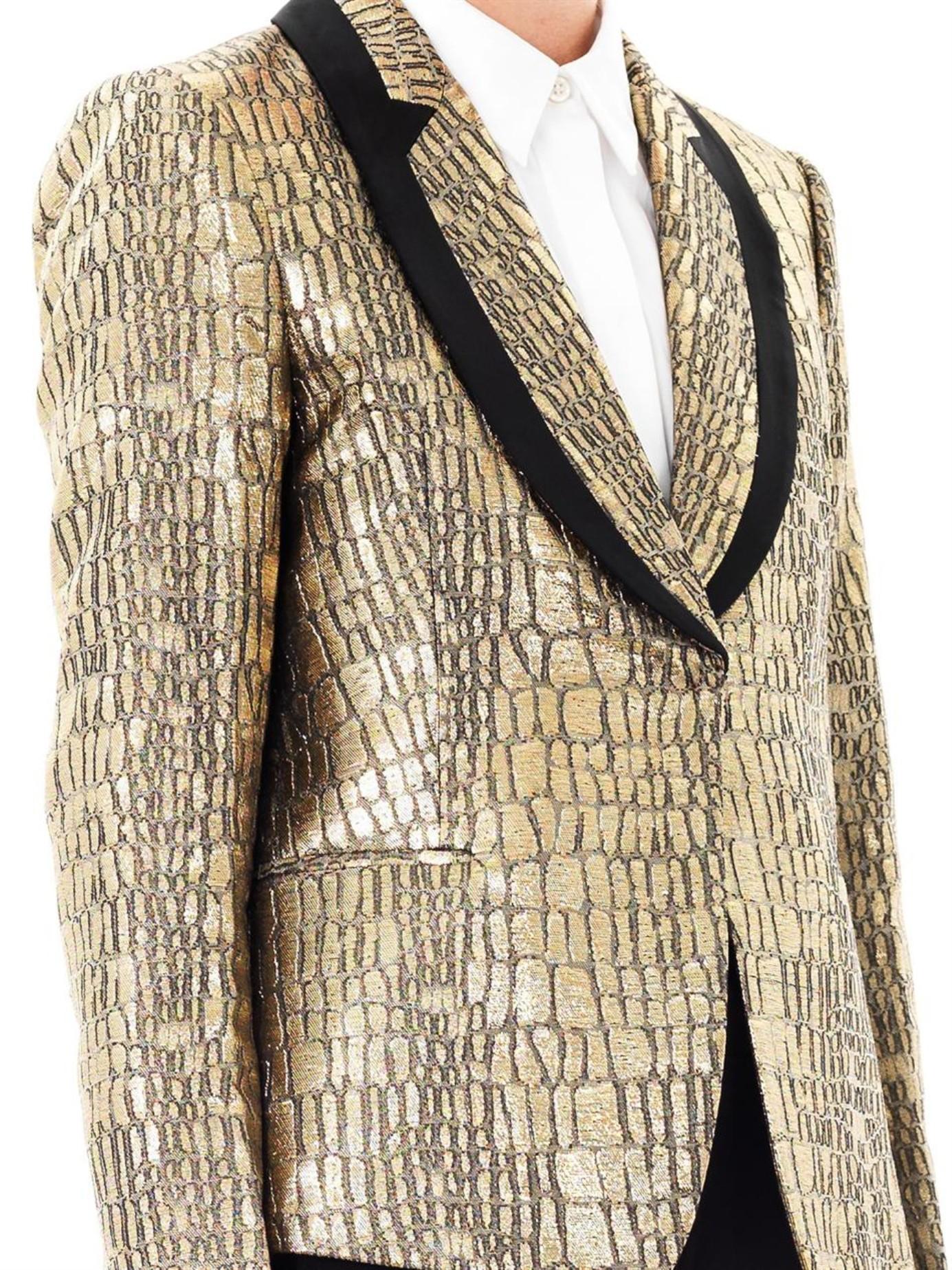 Diane Von Furstenberg Synthetic Ofelia Jacket In Gold