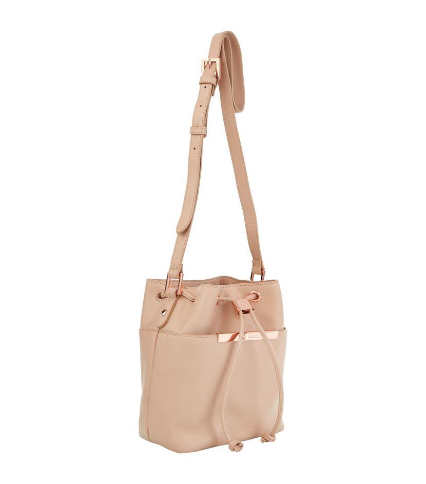 4c57a50ed3633d Ted Baker Ersilda Crosshatch Mini Bucket Bag in Pink - Lyst