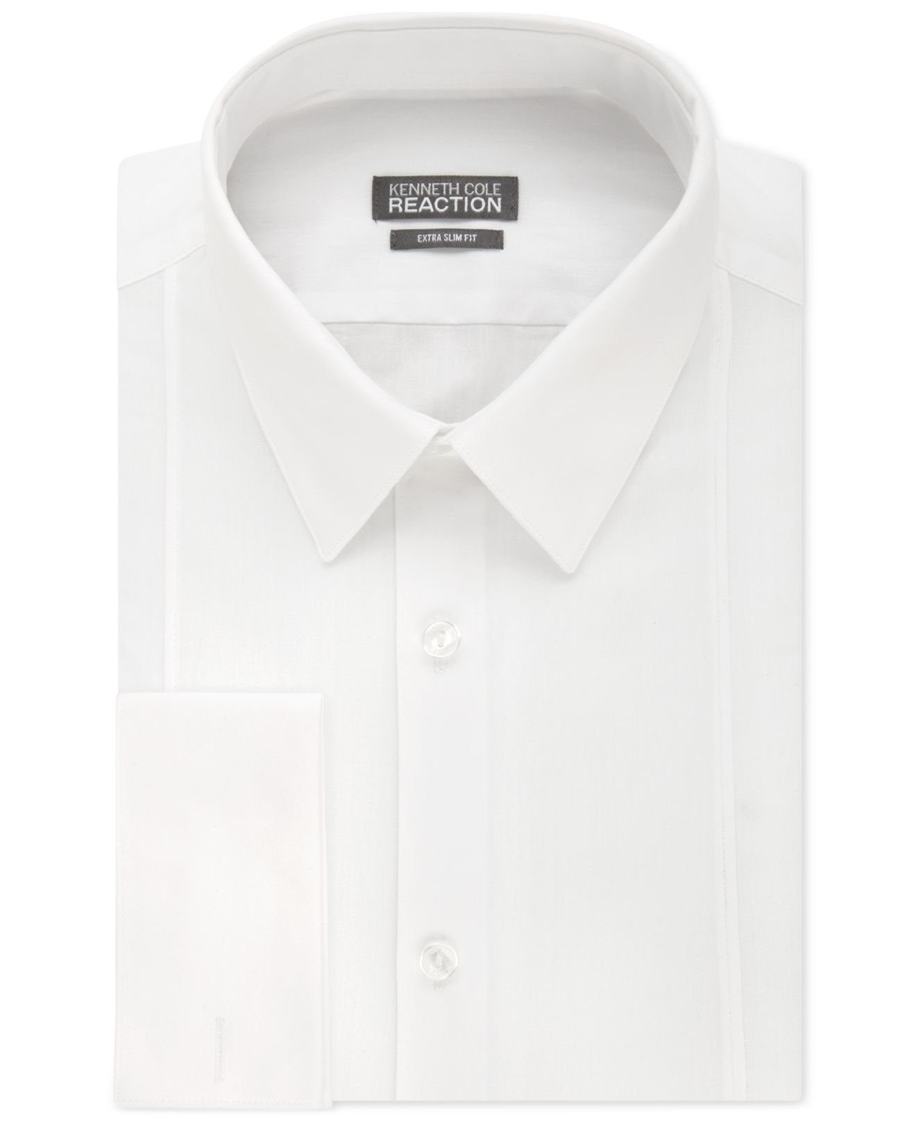 Lyst kenneth cole reaction extra slim fit solid white for White french cuff shirt slim fit