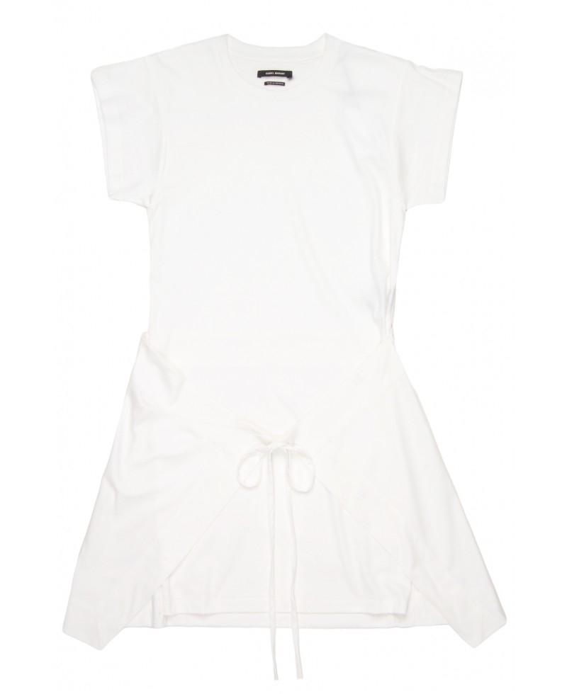 Lyst isabel marant senga cotton t shirt dress in white for Isabel marant shirt dress