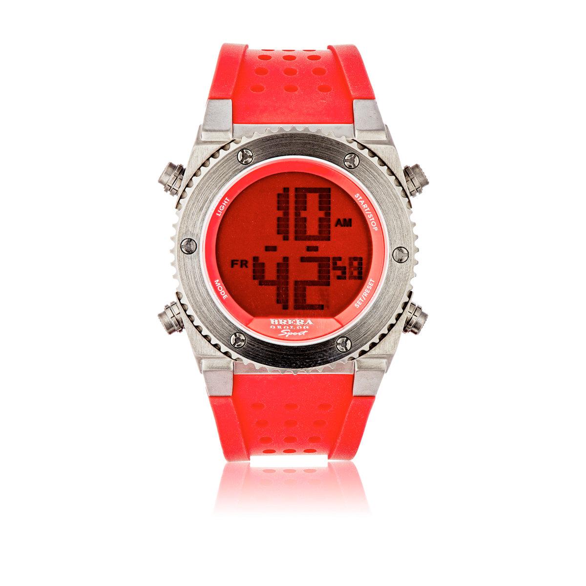 brera orologi s sport digital in orange for