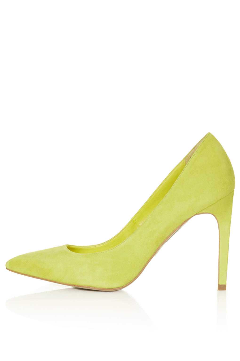 huge discount 649d5 19ff0 TOPSHOP Womens Glory High Heel Shoes Lime in Yellow - Lyst