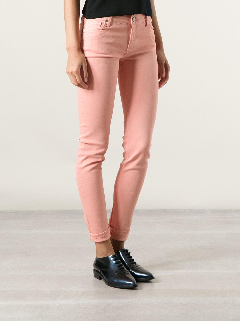victoria beckham skinny jeans in pink lyst. Black Bedroom Furniture Sets. Home Design Ideas