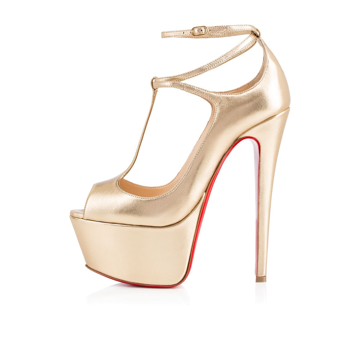Christian Louboutin Embroidered Round Toe Pumps Christian