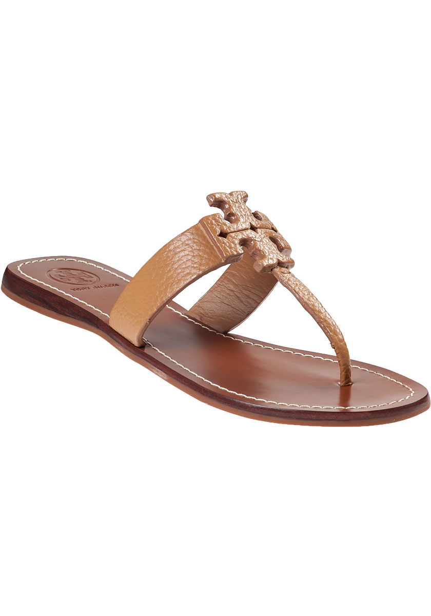d9b825177a33 ... usa tory burch moore thong sandal royal tan leather in brown lyst 8ed64  9d569