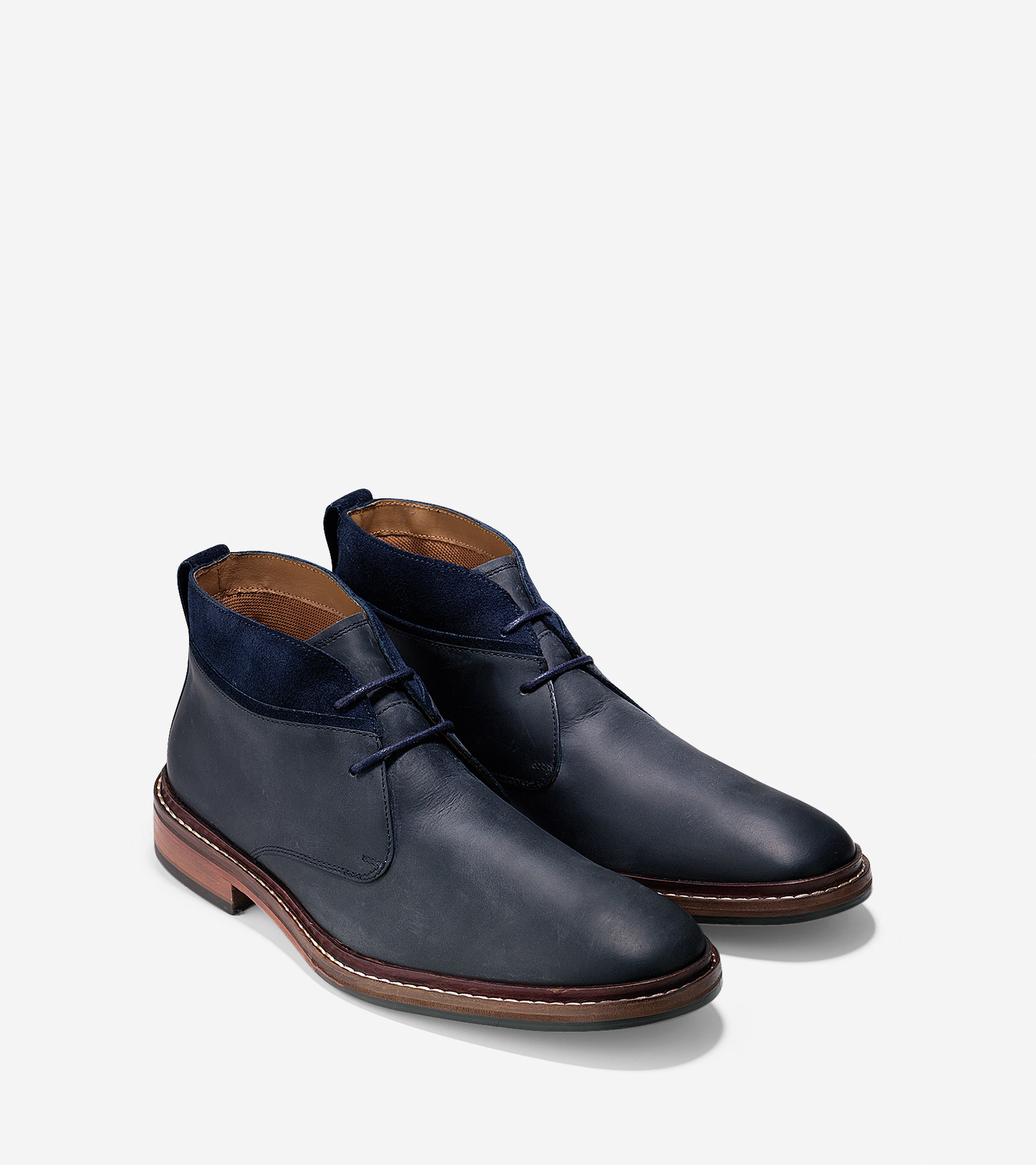 Cole haan Williams Welt Chukka Boots in Blue for Men | Lyst