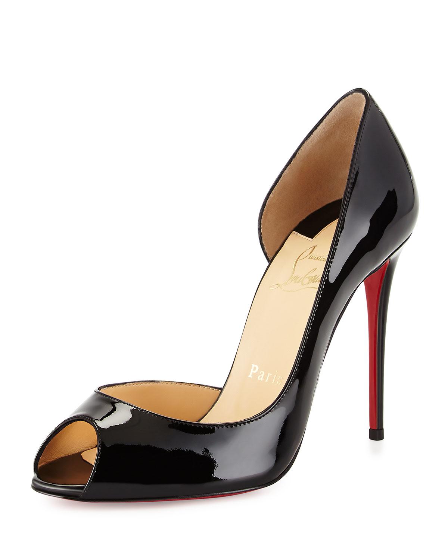 christian louboutin hyper prive peep toe pumps (noir), louboutin outlet  online; gallery