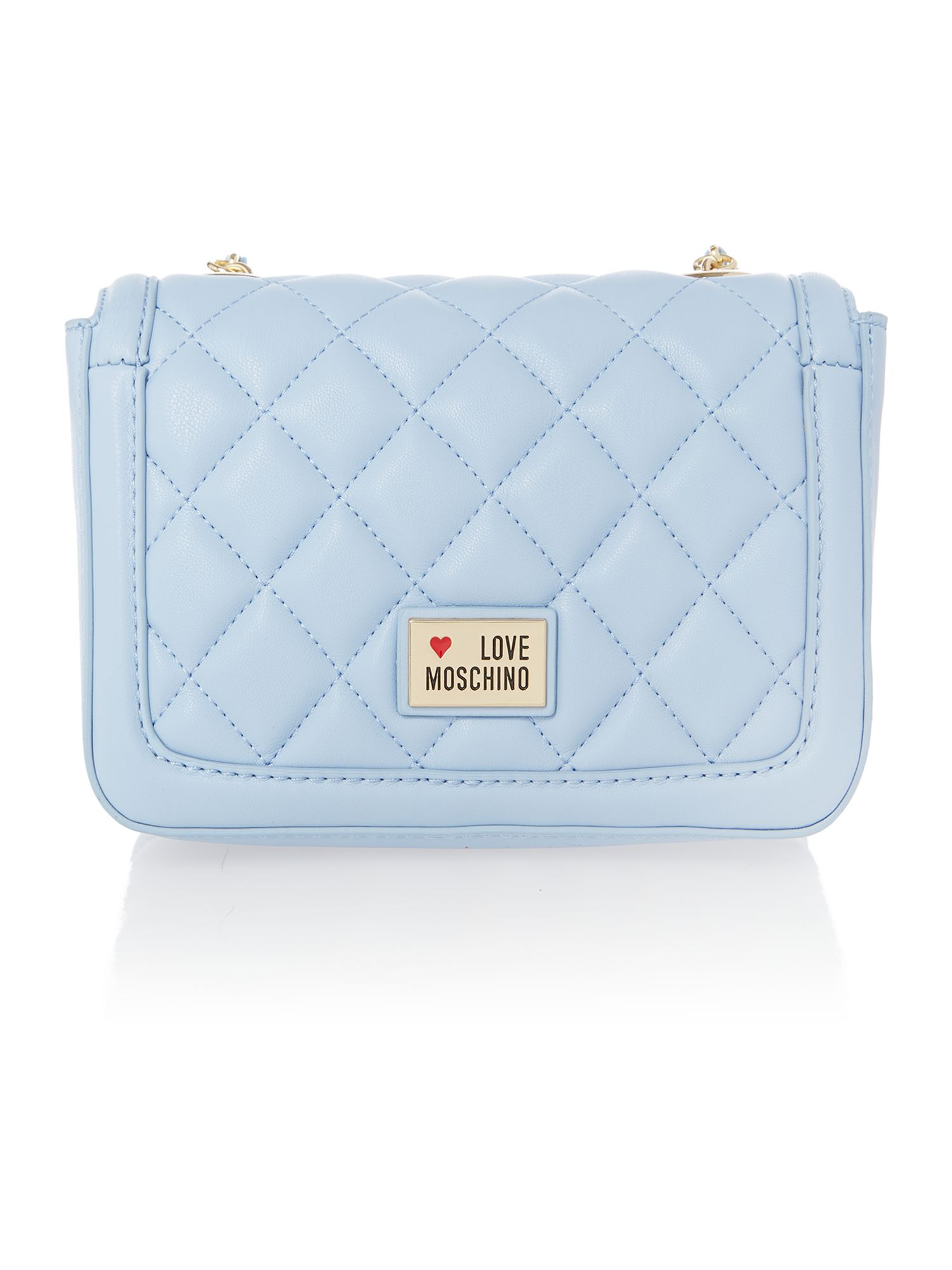 Love moschino Blue Mini Quilt Cross Body Bag in Blue