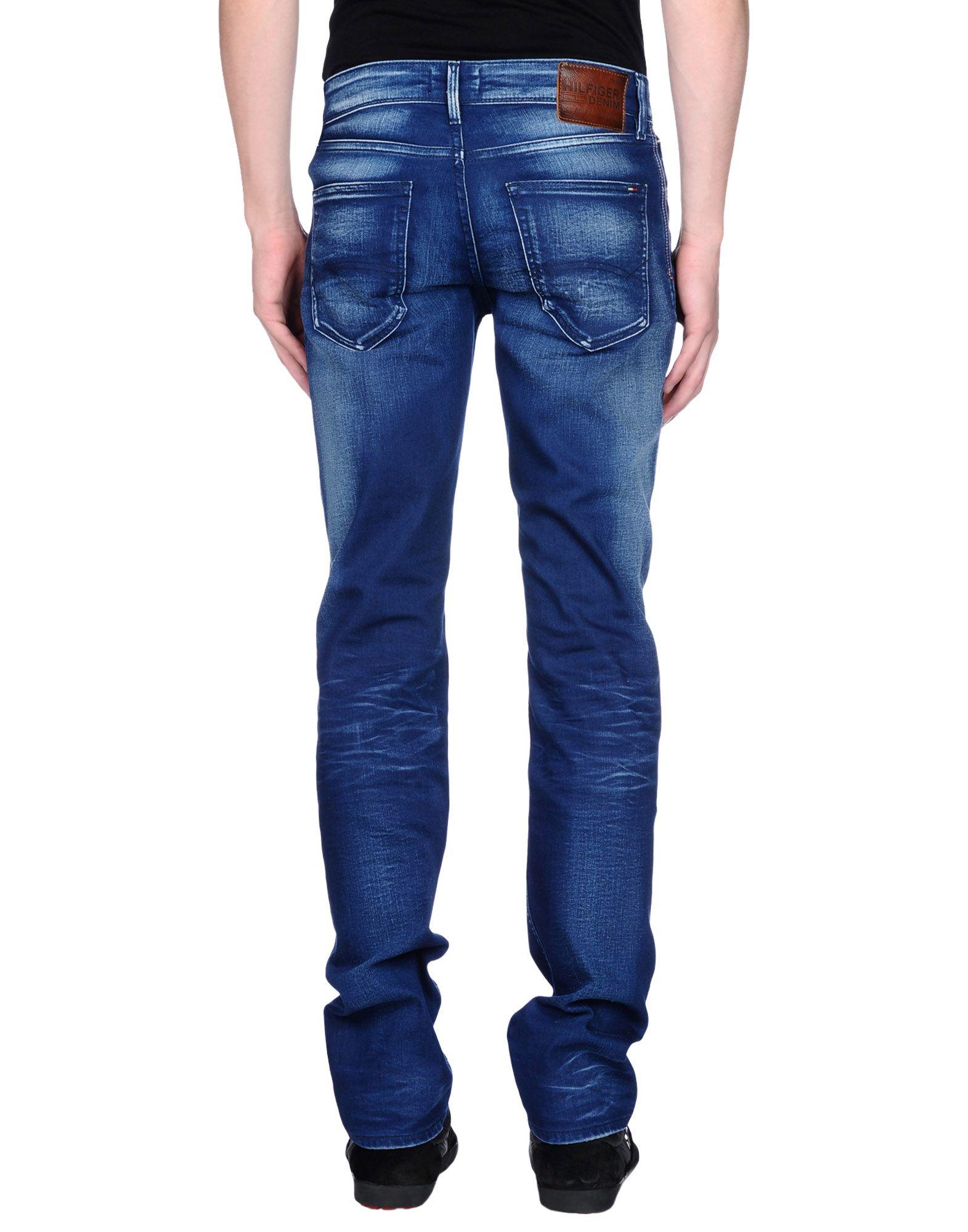 tommy hilfiger denim denim trousers in blue for men lyst. Black Bedroom Furniture Sets. Home Design Ideas