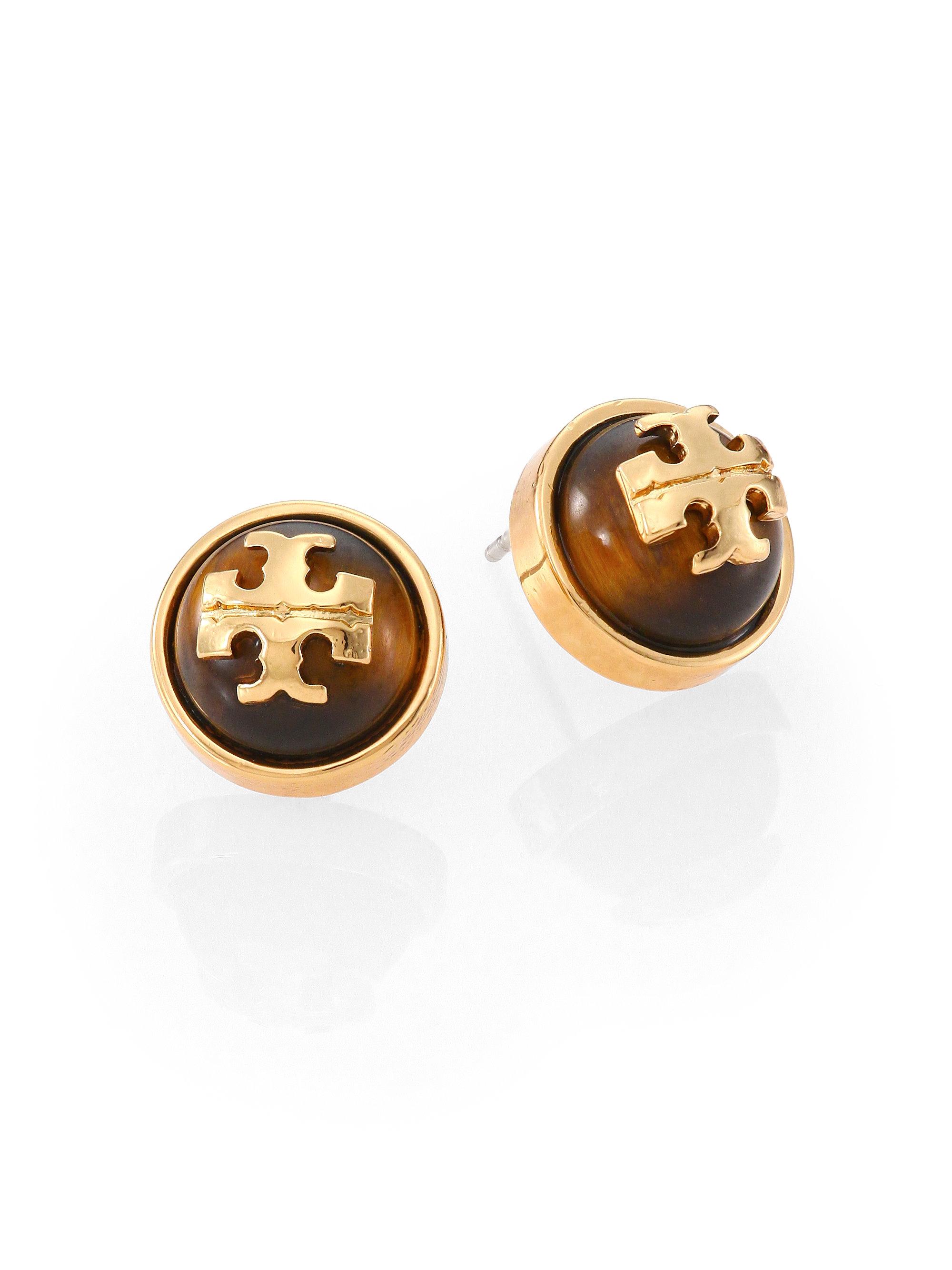 Crystalline Tiger eye earrings - Metallic LtNHxAEje